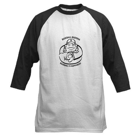 Baseball Buddha Jersey Sleeve T-Shirt