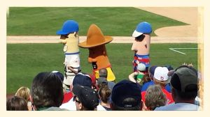 Brewers racing sausages!