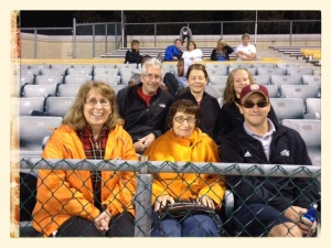 Chuck & Brian Jerolman's Family!  Mom is in orange on the left.