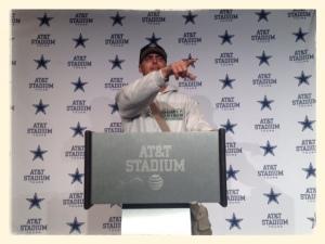 Feeling important at Cowboy Stadium!