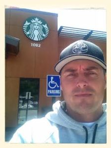 Looking tired at Starbucks...