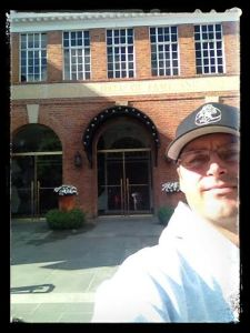 In front of the Baseball Hall of Fame!