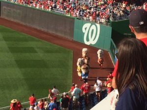 Racing Presidents at the Nationals game!