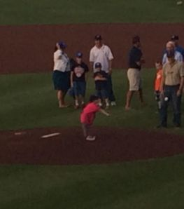 Kiley's first pitch!